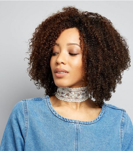 White Lace Embroidered Choker | New Look