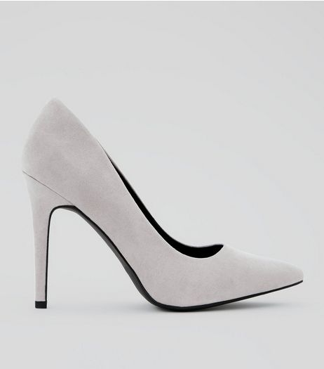Wide Fit Lilac Suedette Pointed Court Heels | New Look
