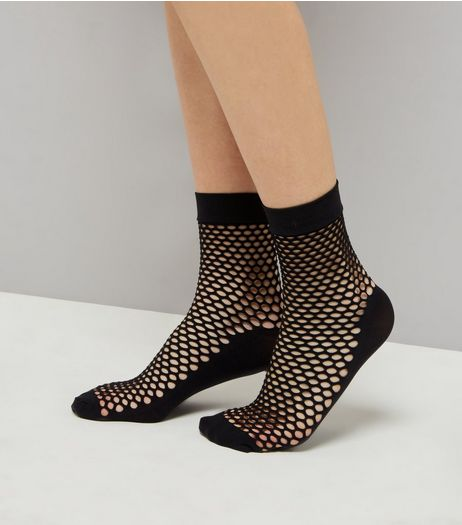 Black Honeycomb Fishnet Socks | New Look
