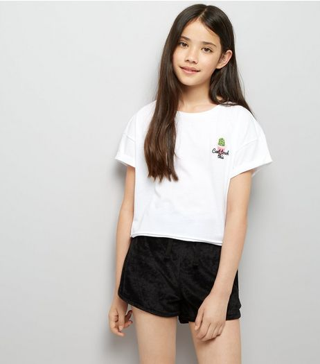 Teens Black Towelling Shorts | New Look