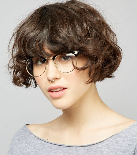 Black Clear Lens Retro Glasses | New Look