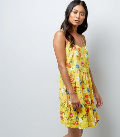 Petite Yellow Floral Print Sundress | New Look