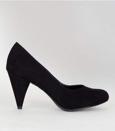Wide Fit Suedette Kitten Heels | New Look