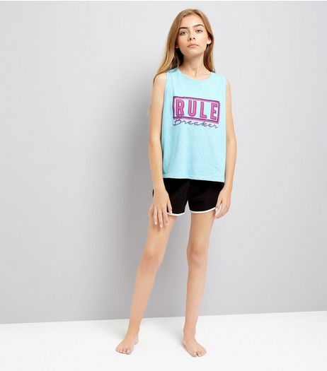 Teens Blue Rule Breaker Pyjama Set | New Look