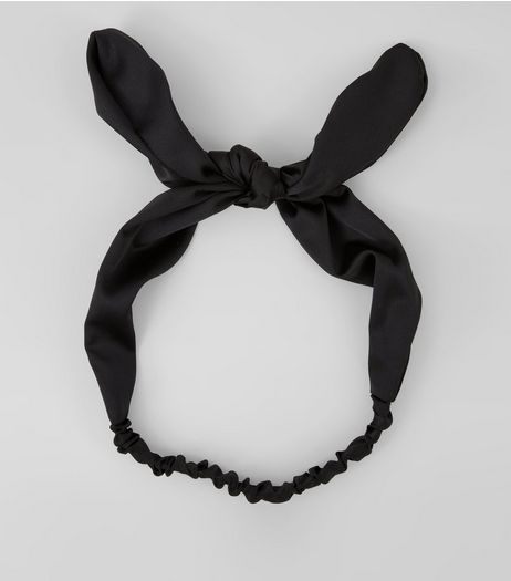 Black Bow Headband | New Look