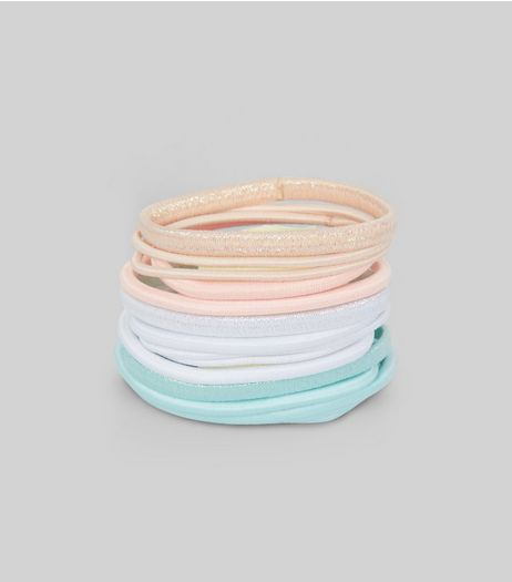 Pastel Metallic Detail Hairband Pack | New Look