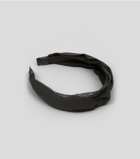 Black Knot Twist Front Headband | New Look