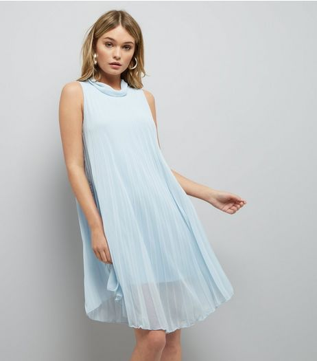 Loving This Pale Blue Pleated Dress | New Look