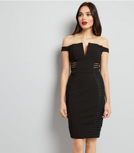 Parisian Black Cut Out Sides Bodycon Dress  | New Look