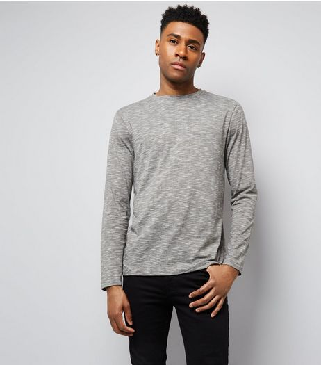Grey Longsleeve T-Shirt | New Look