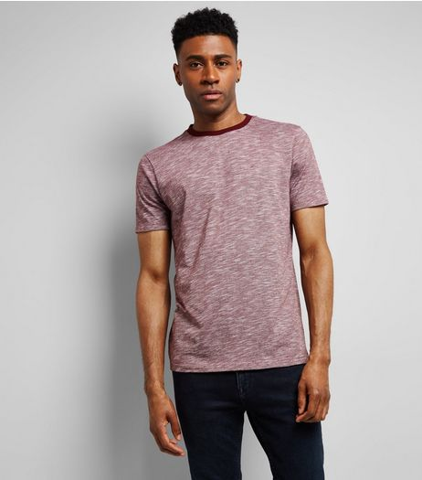 Red Marl T-Shirt | New Look