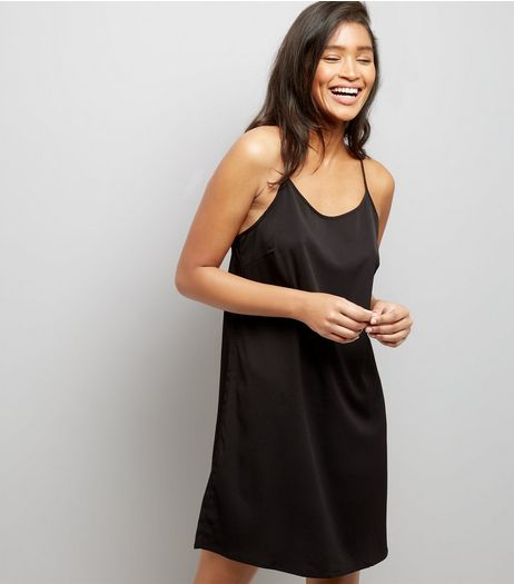Noisy May Black Lace Panel Dress  | New Look