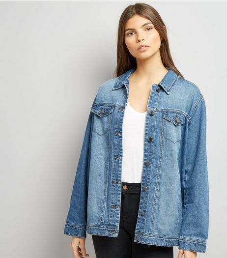 JDY Blue Oversize Denim Jacket | New Look