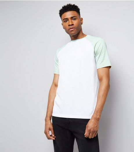 Mint Green Short Raglan Sleeve T-Shirt | New Look