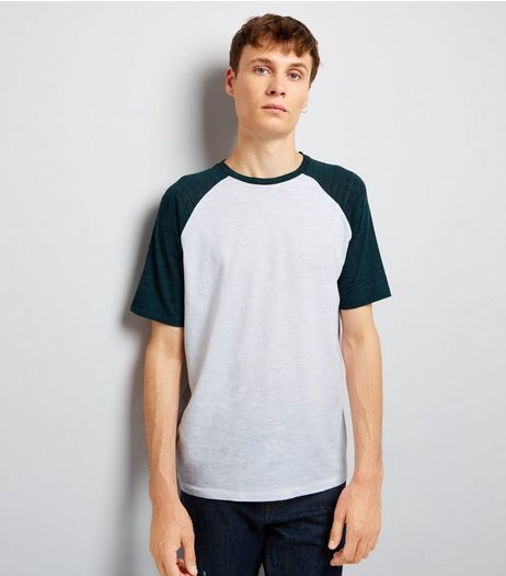 Petrol Blue Raglan Short Sleeve T-Shirt | New Look