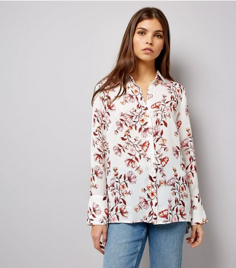 White Floral Print Shirt | New Look