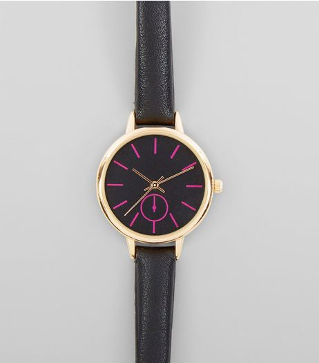 Black Neon Dial Watch | New Look