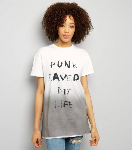 Urban Bliss White Slogan Print Tie Back T-Shirt  | New Look