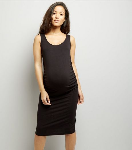 Maternity Black Jersey Midi Dress | New Look