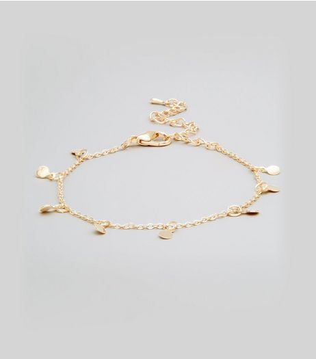 Gold Disc Anklet | New Look