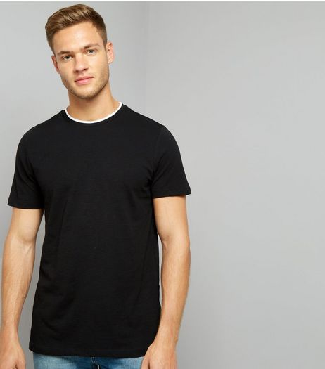 Black Layered Crew Neck T-Shirt | New Look