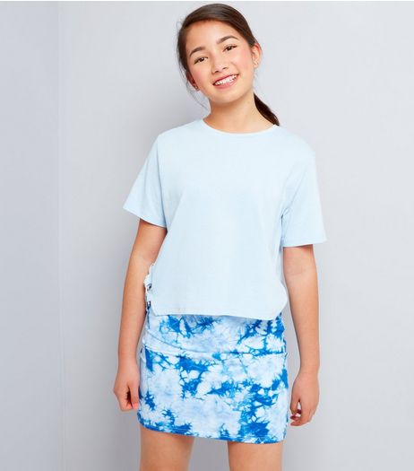 Teens Blue Tie Dye Tube Skirt | New Look
