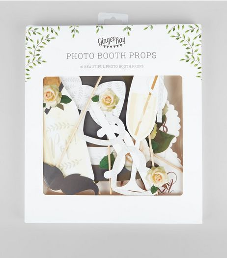 Cream Wedding Photo Booth Prop Pack | New Look