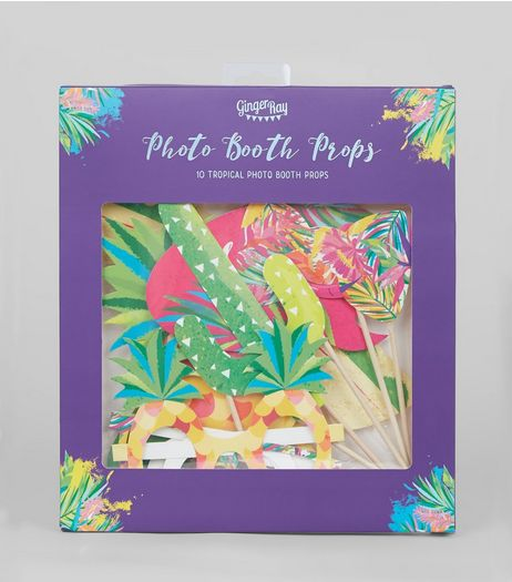 Green Tropical Photo Booth Prop Pack | New Look