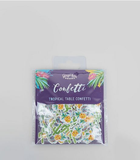 Green Tropical Table Confetti | New Look