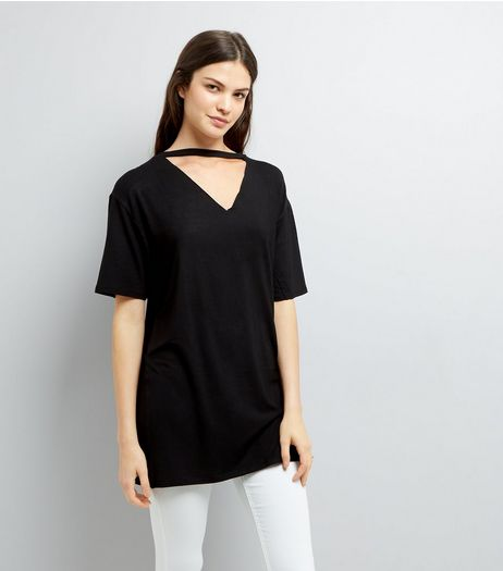 Black Choker Neck Tunic | New Look