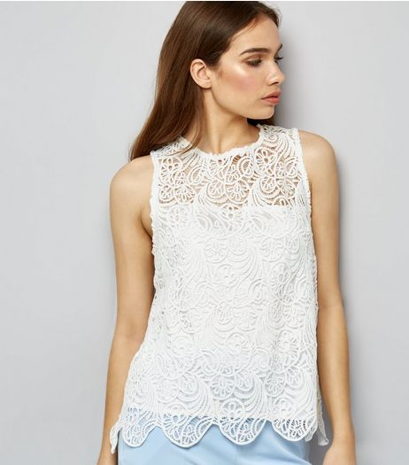 Apricot Cream Lace Swing Top | New Look