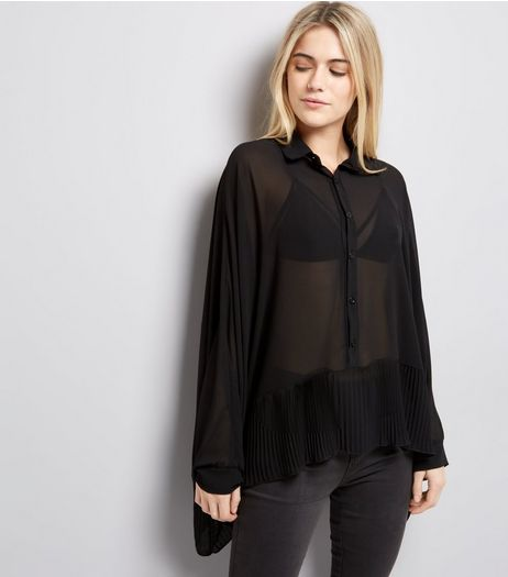 Mela Black Batwing Sleeve Blouse | New Look