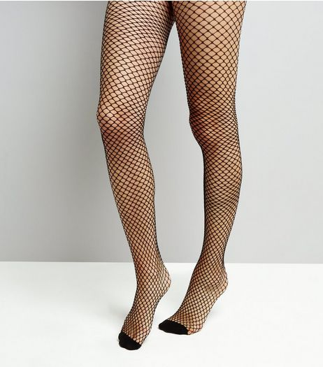 Black Honeycomb Fishnet Tights | New Look
