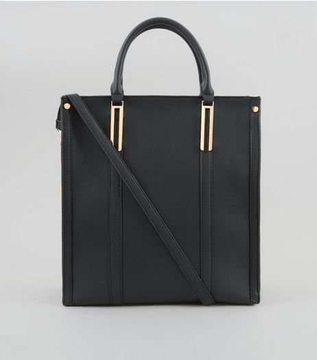 Black Oversized Tote Bag | New Look