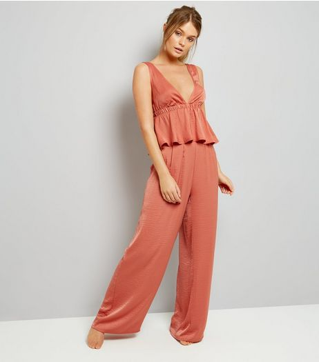 Pink Satin High Waist Trousers  | New Look