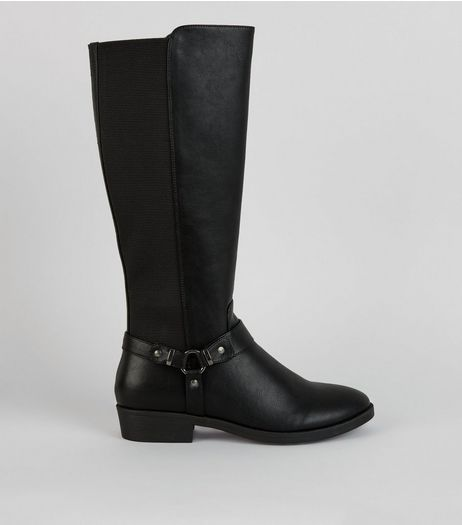 Black Knee High Boots  | New Look
