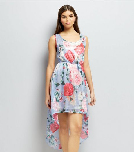 Mela Blue Floral Print Dress | New Look