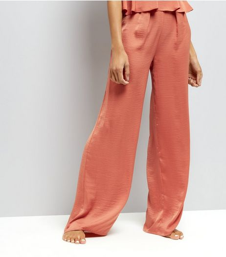 Tall Pink Wide Leg Pyjama Trousers  | New Look