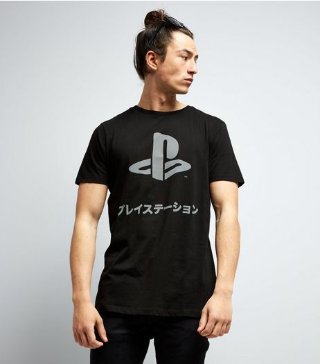 Black PlayStation Logo T-Shirt | New Look