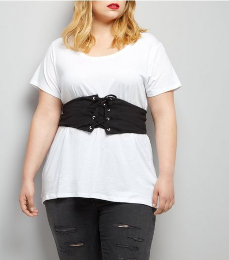 Curves Black Corset Belt | New Look