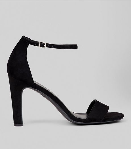 Black Ankle Strap Heeled Sandals | New Look