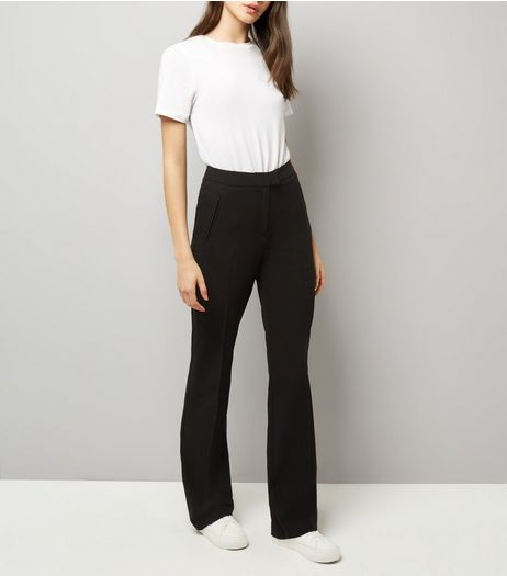 Tall Black Bootcut Trousers | New Look