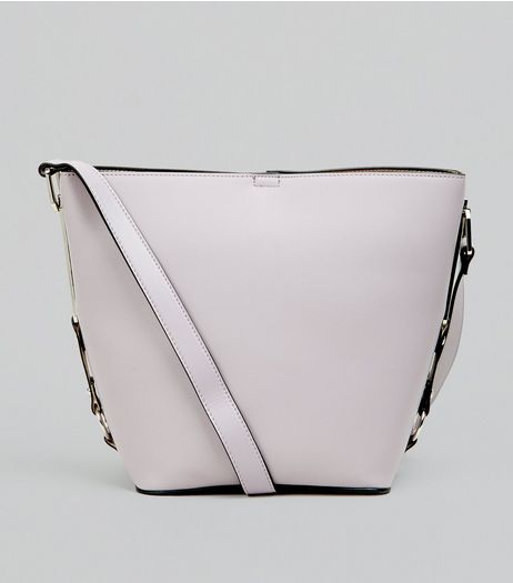 Lilac Side Detail Bucket Bag | New Look