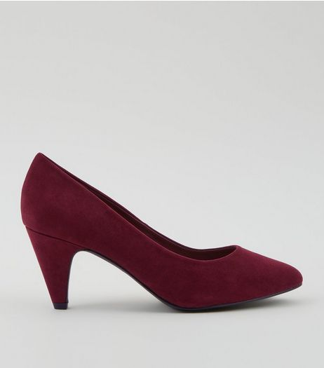 Comfort Burgundy Cone Court Shoes | New Look