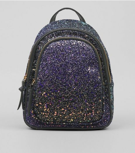 Purple Glitter Mini Backpack | New Look