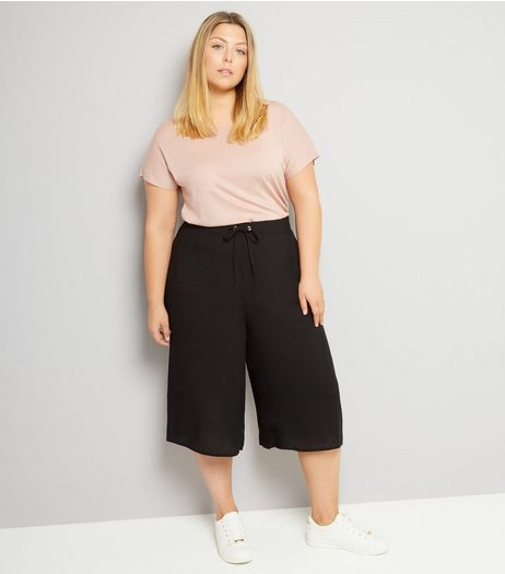 Curves Black Culottes | New Look