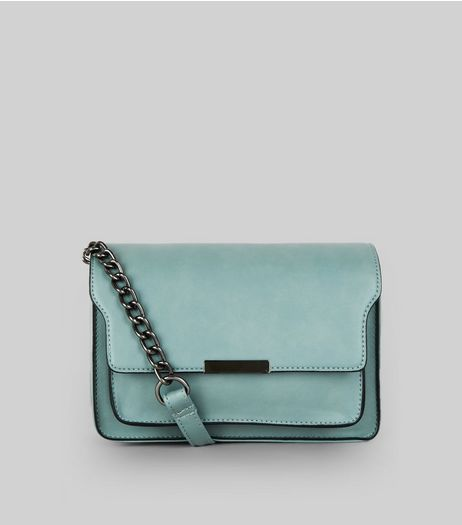 Blue Chain Structured Shoulder Bag | New Look