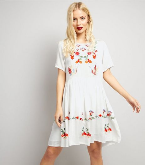 Anita and Green White Floral Embroidered Summer Dress | New Look