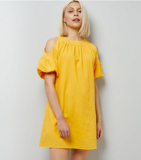 Anita and Green Yellow Cold Shoulder Dress | New Look