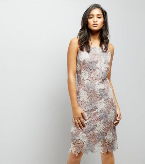 Cameo Rose Lilac Floral Crochet Dress | New Look